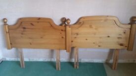 Ducal solid antique pine headboard