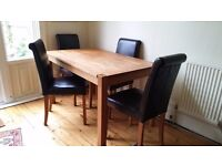 Dining Table and 4 Chairs - £200