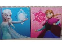 Girls Disney Frozen Elsa and Anna wall canvases from B & Q
