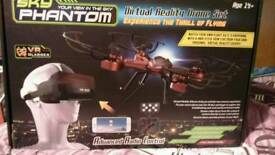 Phantom drone with 3d goggles.