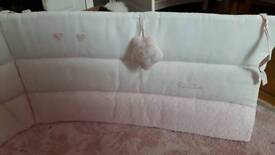 Silver Cross Pink Cotton Bumper