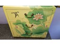 Large Handpainted Bedside Table