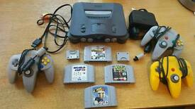 N64 with games and pads fully working order