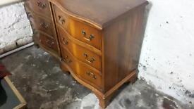 2 x Georgian bedside cabinets