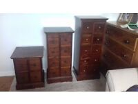 Storage wooden draws
