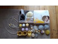 Medela Swing electric breast pump plus spares and bottles (Avent, Dr Brown)