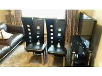 4 Dining room chairs. Excellent condition.