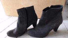 Grey suede Seasalt ankle boots