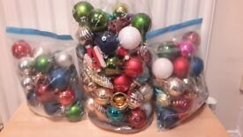 Christmas tree, lights and baubles/ornaments