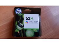 Original HP 62 ink cartridges Colours included: cyan, magenta and yellow.