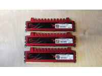 12Gb (3x4Gb) G-Skill Ripjaws 1600Mhz DDR3 Desktop RAM