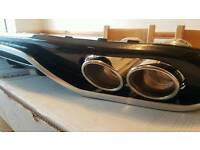 Audi a4 2008 onwards rear bumper diffuser with quad stainless exhaust pipes (not for s-line)