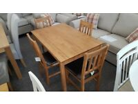 Julian Bowen Coxmoor Solid Oak Dining Table & 4 Dining Chairs Can Deliver