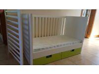Ikea Stuva Cot / Cotbed & Mattress