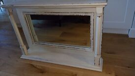 Shabby chic overmantle mirror