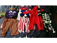 Baby boy Halloween outfits clothes bundle size 12 - 18 months 1 year