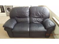 two seater settee real leather and recliner