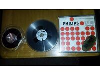 "Reel to Reel 7"" Philips Tape in Case + 5"" Emitape spool with part tape"