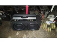 Pioneer champion series subs and alpine amp subwoofer base box amp