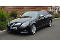 2008/08 Mercedes C220 CDI AMG SPORT (New Shape) + XENONS + HPI CLEAR + PANTHER BLACK + FMBSH +