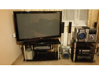 50' Samsng Plasma TV and a Solid 50' Glass Stand top quality
