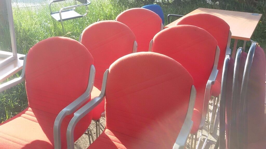 Red chairs six