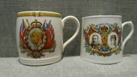 2 George V & Queen Mary Silver Jubilee Cups 1910-1935 £10 ono