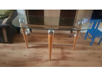 Glass top side table piece