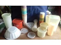 job lot of vintage tupperware