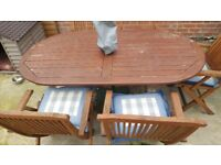 REDUCED! - GARDEN TABLE AND CHAIRS