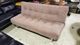Sofa bed, back full reclines. Chrome legs (Ex-display)