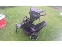 PHIL AND TEDS double pushchair twin buggy with raincover All Terrain 3 Wheel