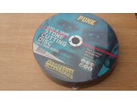 10 x PUNK Stone Cutting Discs - Sizes 230mm x 3mm ABSOLUTE BARGAIN TOOL IN BOX