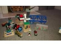 Wooden Thomas the tank engine train set and table