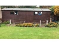 urgent shed for sale 24ft x 10ft can be dismantled
