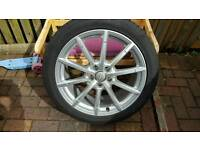 "Genuine Audi 19"" rims, covered less than 1500 miles"