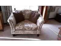 Beautiful, like new, oversized armchair (love-seat)