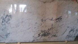 White Grey 30mm marble slabs