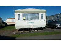 Eight Berth (3 bed ) Caravan for hire Towyn north wales,