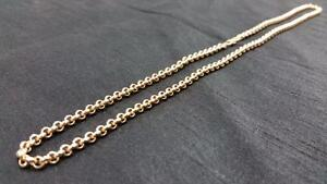 "21.5"" 18K Cable Link Gold Chain"
