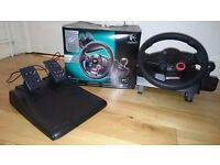 Logitech Driving Force GT Steering Wheel & Pedals (PS3 & PC compatible)