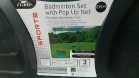 Crane Badminton Set with pop up net! As new!