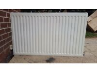 Double Radiator, wall brackets and valves - 100w x 60h