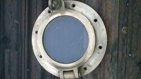 heavy brass porthole