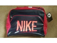 NIKE BLACK AND PINK MESSENGER LAPTOP BAG