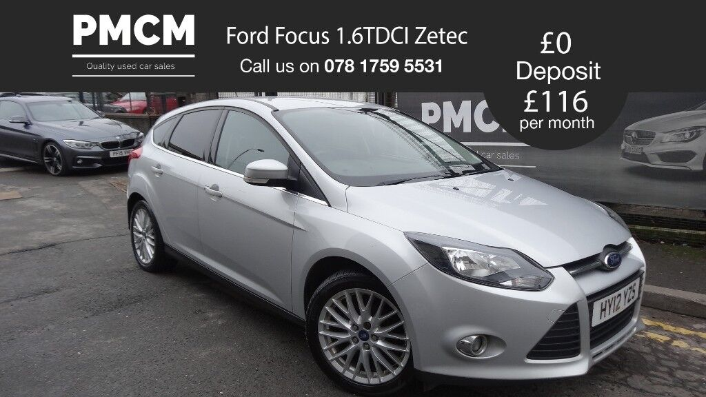 2012 Ford Focus 1.6TDCI Zetec - APPEARANCE PACK - £20 ROAD TAX - not fiesta astra megane golf civic
