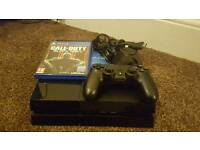 ps4 500gb with a game and pad plus wires