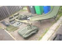 full carp set up rods reels alarms bivvy scalrs nrt luggage bed the works