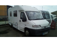 Autocruise Starquest 2 berth motor home with awning