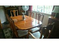 Yew dining room furniture.